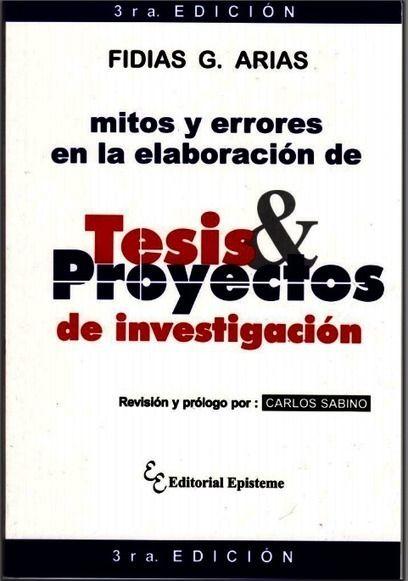 Libro: Mitos y Errores en la elaboración de Tesis y Proyectos de Investigación   GESTIONAR en el Nivel Superior   Scoop.it