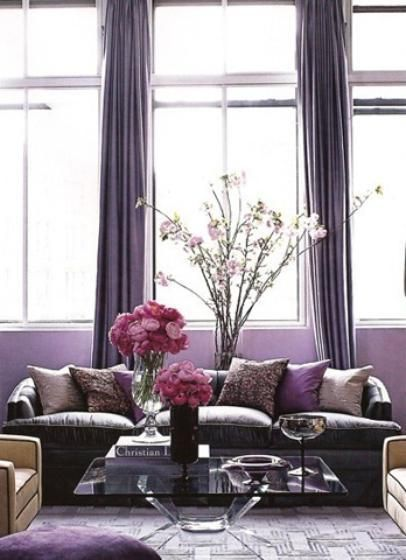 17 best images about radiant orchid home decore on - Most popular living room colors 2014 ...