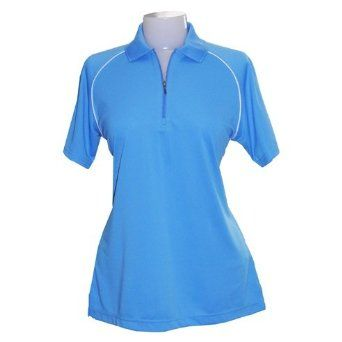 Women's Piped Raglan Performance Pique Polo Shirt from Jockey, BALTIC, XS Jockey. $24.99