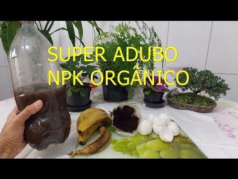 SUPER ADUBO NPK ORGÂNICO LÌQUIDO. ( passo a passo como fazer) - YouTube