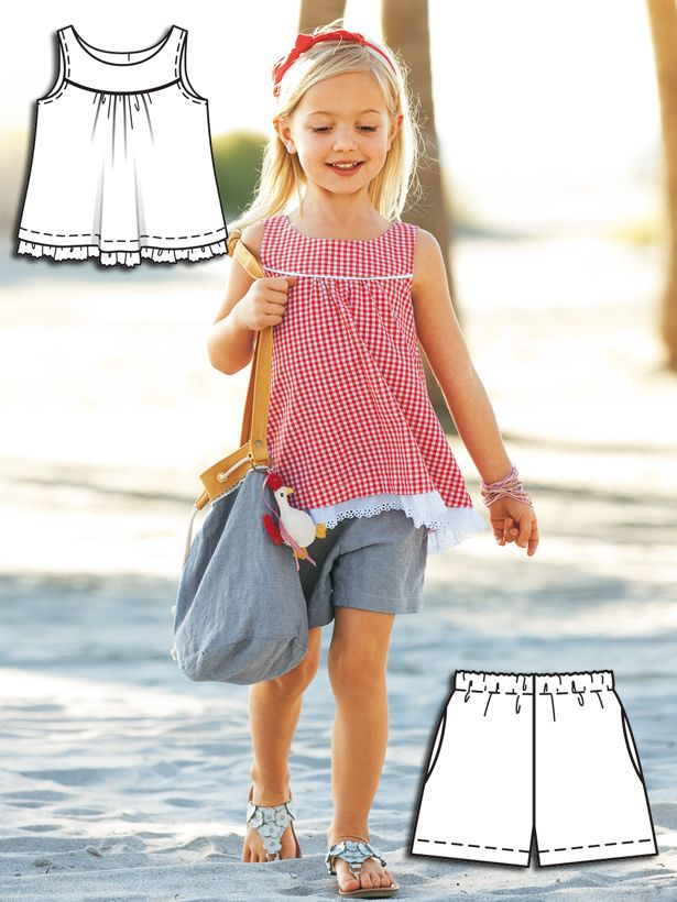 Gingham Girls: 9 New Patterns – Sewing Blog | BurdaStyle.com -- cute cute cute