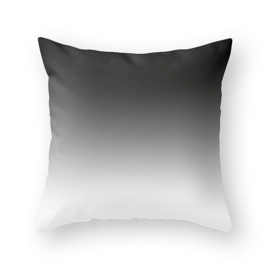Black gradient pillow. Black and white gradient by LatteHome