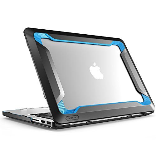 "Macbook Pro 13 Case NexCase [Heavy Duty] Slim Rubberized [Snap on] [Dual Layer] Hard Case Cover with TPU Bumper Cover for Apple Macbook Pro 13-inch 13"" (Blue)"