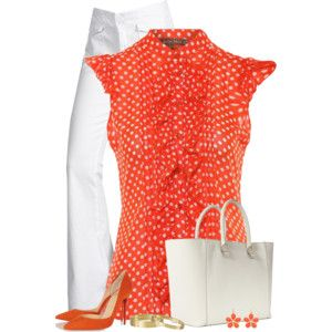Polka Dots-love everything about this outfit!
