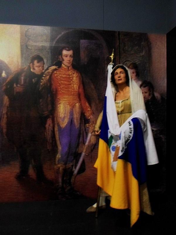 Doña Javiera Carrera Verdugo en el Museo de Historia Militar.