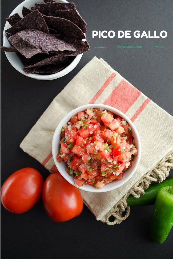 Pico de gallo. Tomato, jalapeño, onion, cilantro, and lime juice. Simple and delicious!