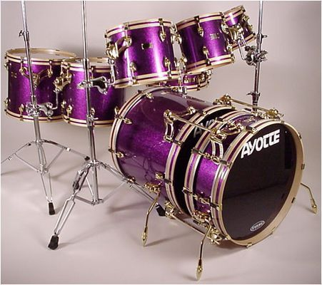 PURPLE drums! RESEARCH #DdO:) - https://www.pinterest.com/DianaDeeOsborne/drums-drumming-joy/ - Ayotte Custom Drums Corporation is a privately-held company based in Bedford, Canada. It makes & markets products worldwide. Since 1982, Ayotte has earned an reputation as a niche manufacturer of best hand- made percussion instruments in the world. NONE are mass produced: Every Ayotte drum is consistently within 3/1000 of an inch from its predetermined specifications.
