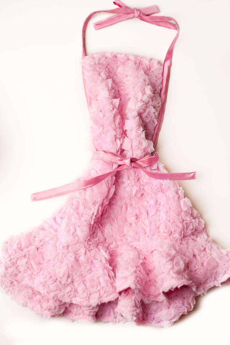 White frilly apron nz - Double Ruffle Apron Pink Chiffon Roses Over French Netting Lined In Pink Satin Hand Crafted In The Usa Photo By Layla Mays Haute Hostess Aprons By Elizabeth