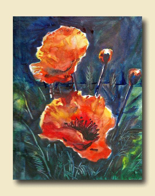 "Watercolor on Canson 9x12"" Original by Joanna Lazuchiewicz 2015"