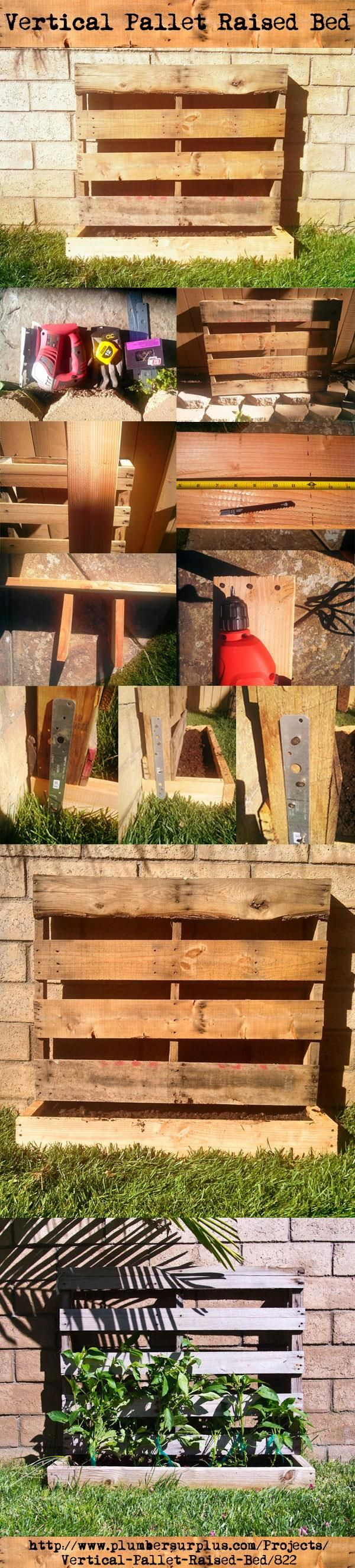 9 best images about our diy projects on pinterest garden for Vertical pallet garden bed