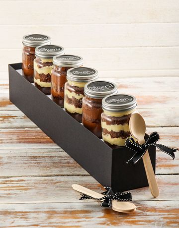 6 Lindt Chocolate Cupcakes in a Jar Combo