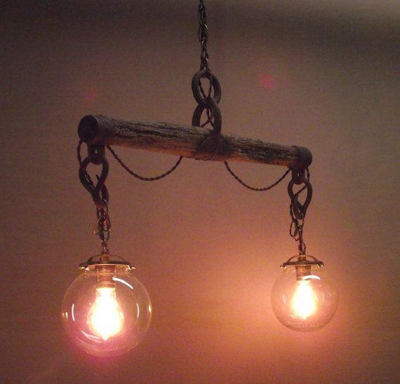 Handmade Horse yoke hanging light - I have some antique yokes to use.