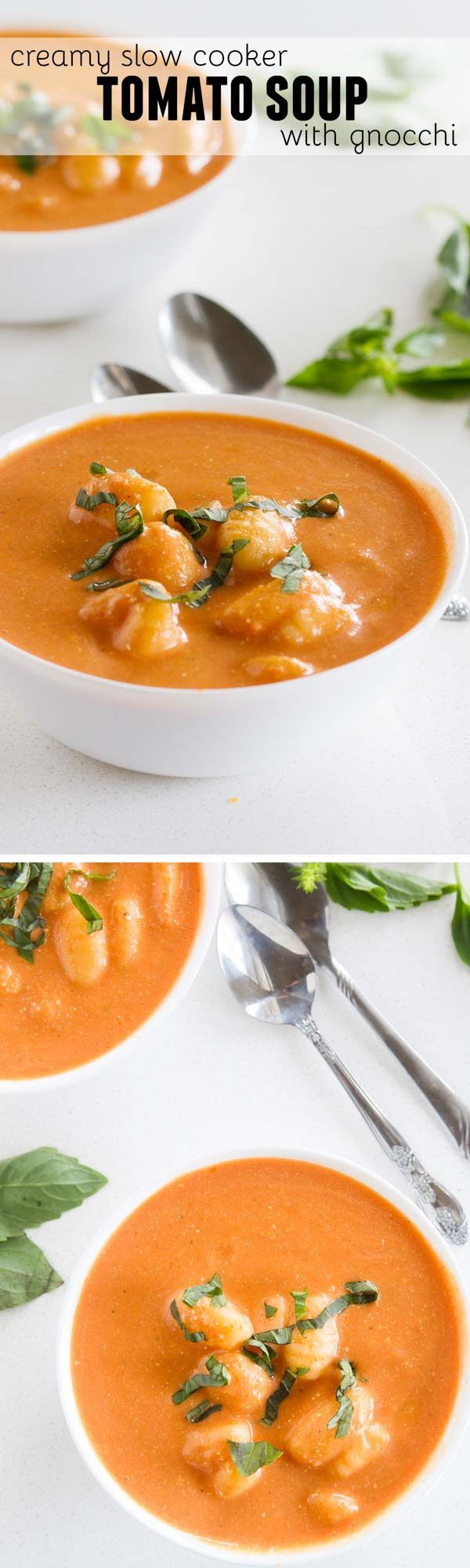 This Creamy Slow Cooker Tomato Soup only takes minutes to prepare and is perfect for a cold night. Keep this recipe on hand for busy nights when you only have a few minutes to prep dinner.