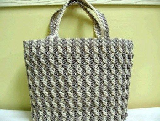 Искусство макраме: сумка своими руками