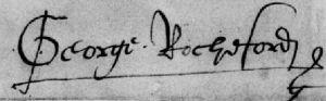 "After George Boleyn's ennoblement, he signed himself ""George Rochford"""