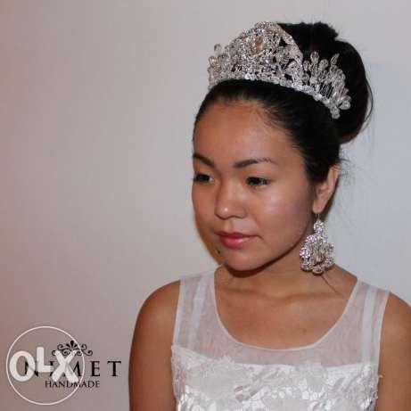 Свадебная тиара, корона, диадема ручной работы. Алматы - изображение 3