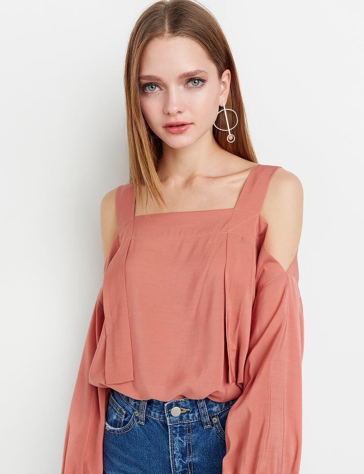 Rust Strappy off The Shoulder Top