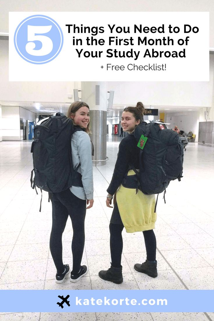 5 Things You Need to Do In the First Month Of Your Study Abroad