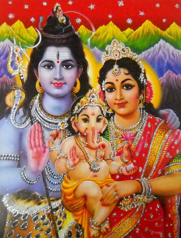 "Lord Shiva Family Hindu God POSTER with glitter 9"" X 11"" (662) FOR SALE • $4.99 • See Photos! Money Back Guarantee. Namaste !!! Welcome to Manya creations This Item is Lord Shiva Family Hindu God POSTER with glitter 9"" X 11"" (662) Description Size - 9 Inches x 11 Inches with 142313908046"