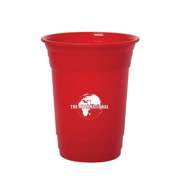 BLOCK PARTY 500 ML. (16 OZ.) SINGLE WALLED PARTY CUP