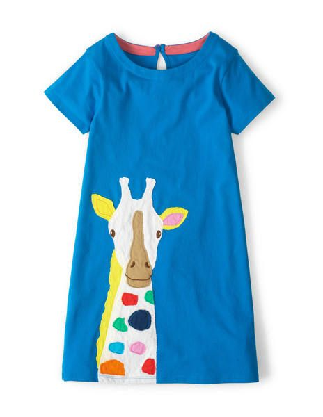 Tropical Appliqué Dress 33353 Day Dresses and Pinnies at Boden