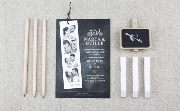 Invitación de bodas de Project Party Studio, modelo Tandem #bodas #papeleria #wedding #stationery #spain