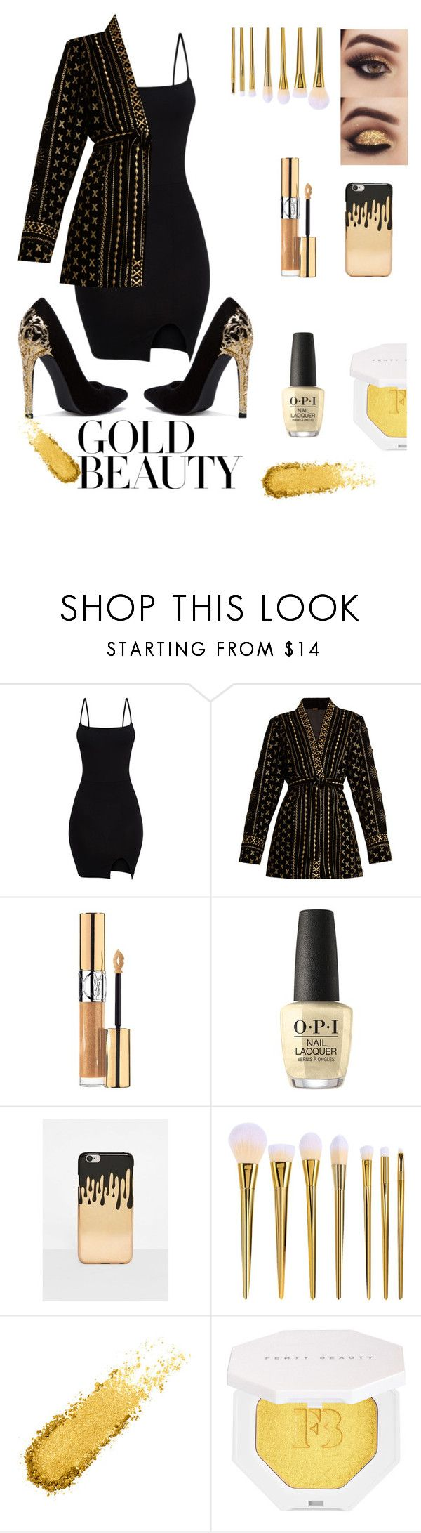 """""""My name is gold"""" by marie-fashion93 on Polyvore featuring Dodo Bar Or, Yves Saint Laurent, OPI, Missguided, Puma, gold, Beauty, clothes and beautygold"""