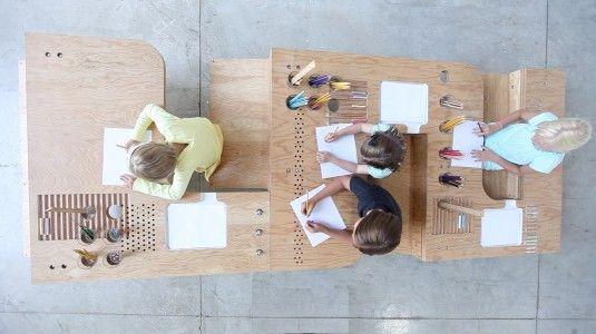 Growth Table | Design by Tim Durfee & Iris Anna Regn http://nykykids.com/growth-table-design-by-tim-durfee-iris-anna-regn/