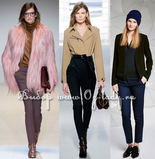 Модные узкие брюки осень-зима 2014-2015