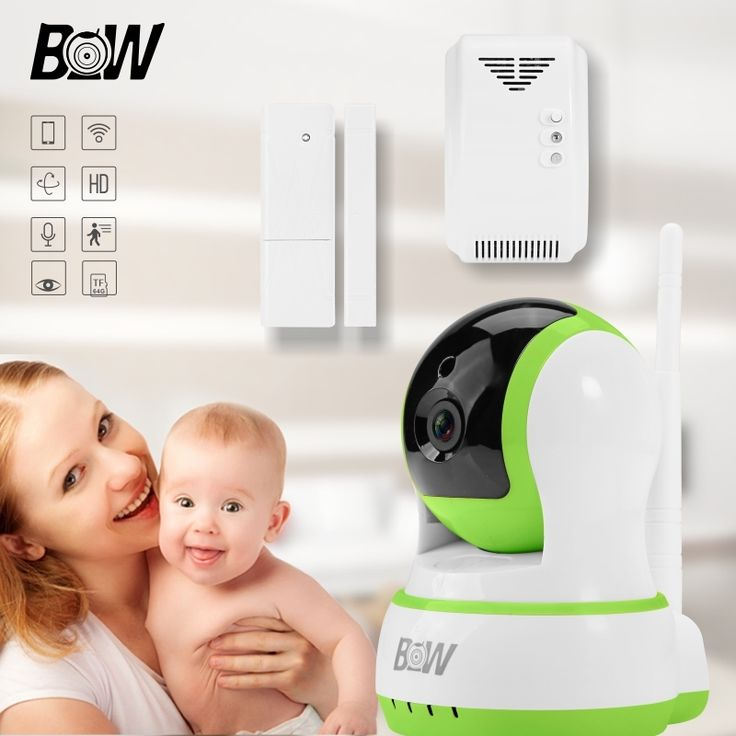 68.47$  Buy here - http://aia8x.worlditems.win/all/product.php?id=32692531493 - Onvif Wireless Surveillance Camera +Door Sensor /Gas Detector Security WiFi IP Camera Alarm System Monitor Home BW13GR