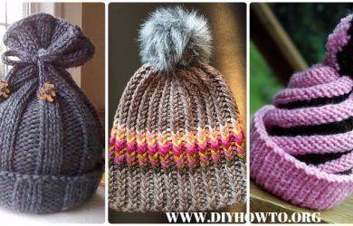 Knit Beanie Hat Free Patterns & Tutorials