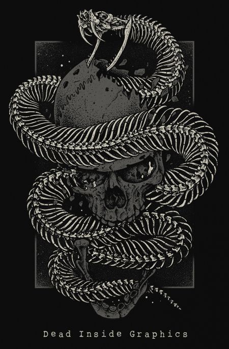 I wanted to draw a snake's skeleton. So i chose the gaboon viper