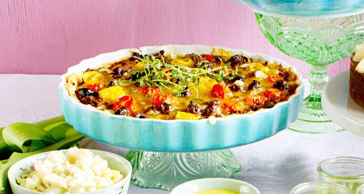 Medelhavspaj med soltorkade tomater - Vegomagasinet