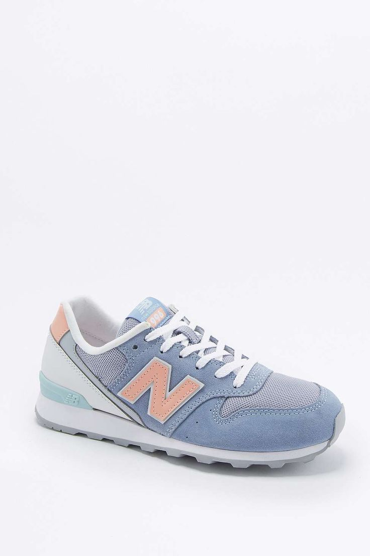New Balance 996 Lilac and Peach Running Trainers
