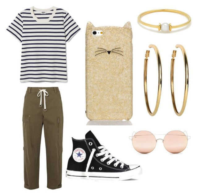 """""""🖤"""" by manola240605 on Polyvore featuring beauté, Anissa Kermiche, Kenneth Jay Lane, T By Alexander Wang, Converse, Kate Spade et For Art's Sake"""