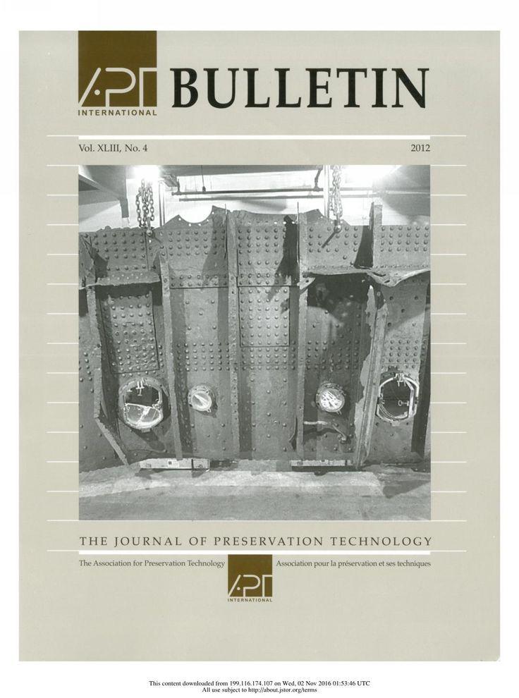 APT Bulletin Vol. 43, No. 4, 2012