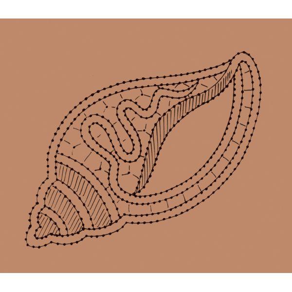 Disegno conchiglia n. 118 - Il Giardino dei Punti, Circolo di ricami, pizzi e decori