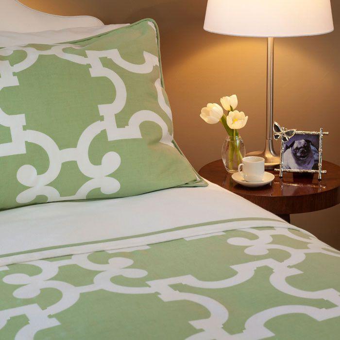 The Noe Green Duvet Cover Set | Sage Green Duvet Cover Sets | Crane U0026 Canopy