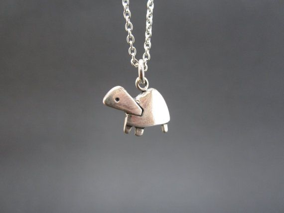 Little Turtle Necklace  Sterling Silver Pet Turtle Pendant