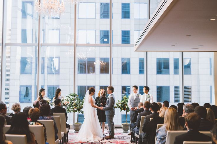 Chic and luxurious, the Toronto Shangri-La Hotel whisks you away. That kind of transporting magic is exactly what went down on Annie + Kevin's wedding day.