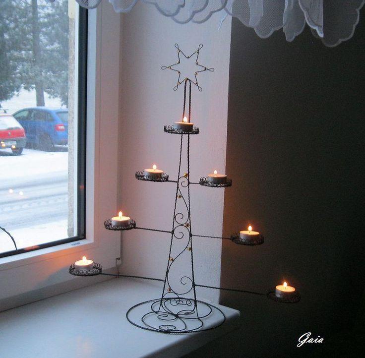 Vánoční+smrček+Smrček+-svícenna+přání+pro+trpělivou+zákaznici+:-)+Výška+-+55+cm+Šířka+-+48+cm+Gaia2016