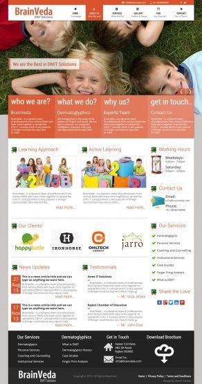 Creative web design for BrainVeda