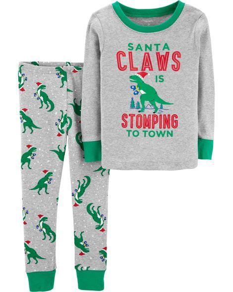 4bd7ed233 2-Piece Christmas Snug Fit Cotton PJs