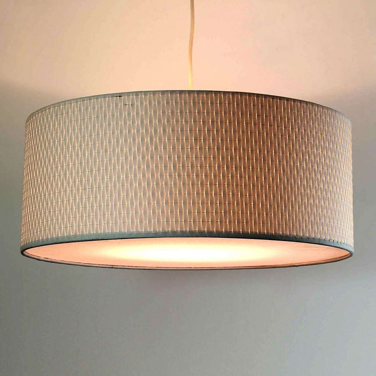 Bailey Woven White Light Pendant | Dunelm