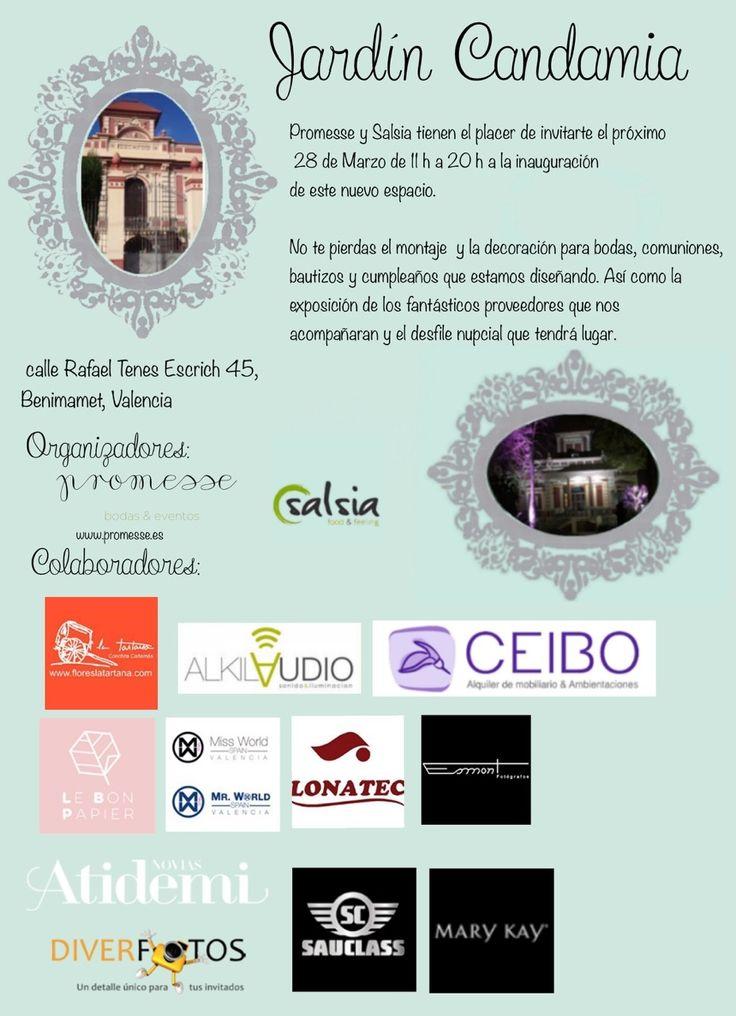 """El próximo sábado 28 de Marzo'15, estás invitado a asistir a la Inauguración del nuevo espacio """"Jardín Candamia"""" en la vecina localidad de Benimamet, Valencia.  Síguenos: http://www.sauclass.com/index.php/203/inauguracion-jardin-candamia-benimamet.html  #sauclass #alquiler #coches #clasicos #boda #valencia #rollsroyce #cadillac #limusina"""