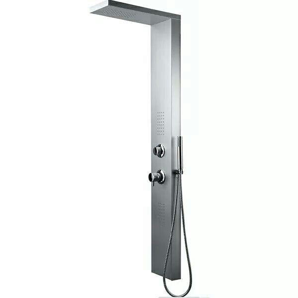 #Pannello #doccia #idromassaggio Sanicro modello #NewYork in #alluminio #verniciato con #miscelatore.  Dolci carezze d'acqua, getti frontali, getto pioggia, getto doccetta. Acquistabile online su www.italiarredo.eu http://italiarredo.eu/65-colonne-e-pannelli-doccia #SANICRO #Bathroom #design #Top #Quality #MadeInItaly #EccellenzaItaliana #italiarredo #Shower #Bagno