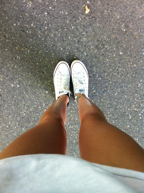 I need a new pair of white low-top converse bc I've had mine for over 2 years…