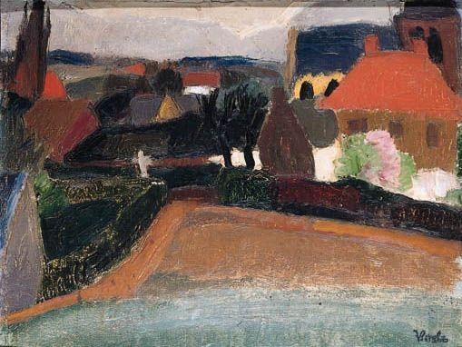 Frits van den Berghe - A view in Blaricum
