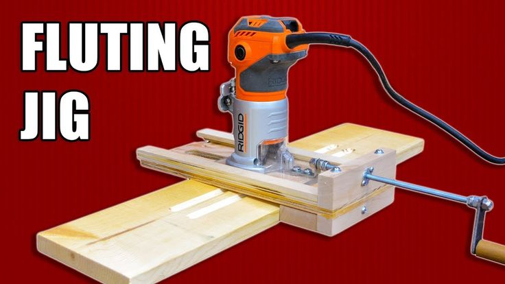 How to Make an Adjustable Fluting Jig for a Mini Router