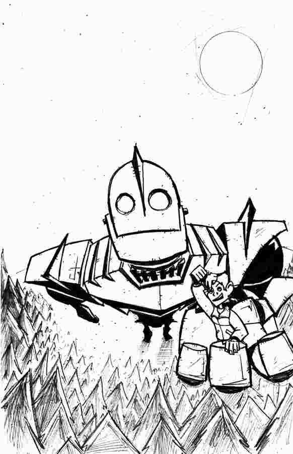 Iron Giant Coloring Page The Iron Giant Coloring Pages Art